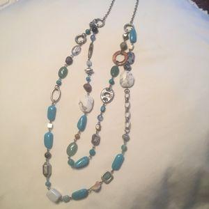 Lia Sophia turquoise multi-color necklace layered